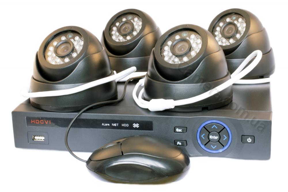 Аналоговый комплект видеонаблюдения на 4 камеры Winson WS-CVR9704 4pcs DC90083C - 1