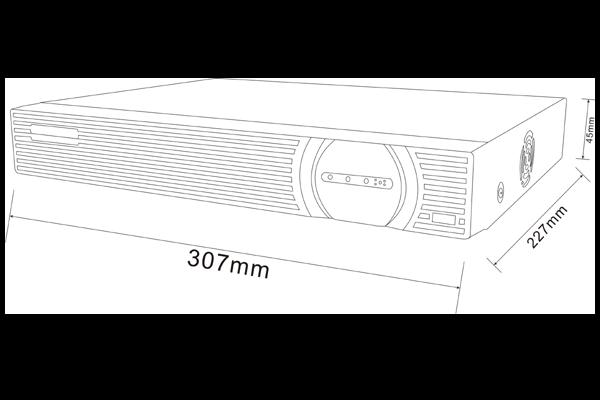 NVR IP видеорегистратор на 8 каналов Winson WS-N8202 - 1