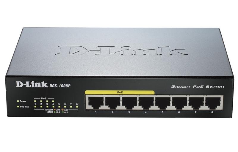 D-Link DGS-1008P (POE) - 1