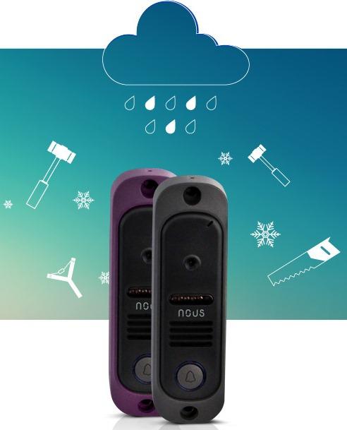 Видеодомофон Nous NV8 комплект с панелью вызова - 4